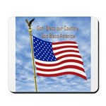 God Bless America 1 Mousepad