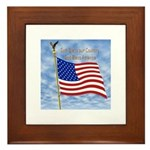God Bless America 1 Framed Tile
