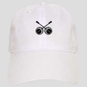 crossed banjos black Baseball Cap