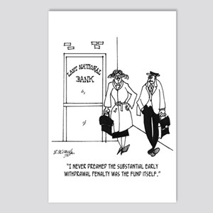 Bank Cartoon 3328 Postcards (Package of 8)