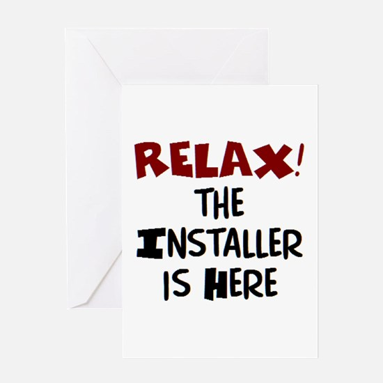 installer here Greeting Card