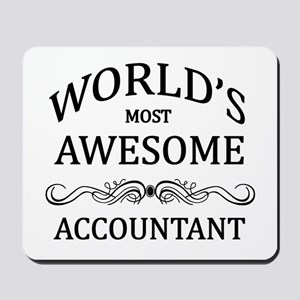 World's Most Awesome Accountant Mousepad