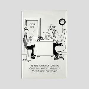 Survey Cartoon 7990 Rectangle Magnet