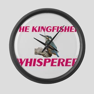 The Kingfisher Whisperer Large Wall Clock