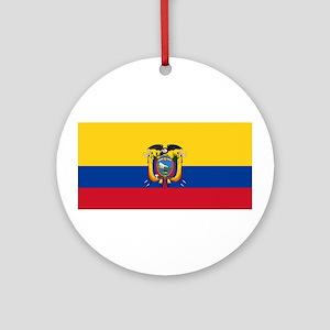 Ecuador National flag Ornament (Round)