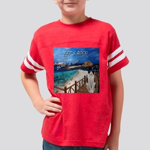 Lets Rock..Surfs Up with ZZ T Youth Football Shirt