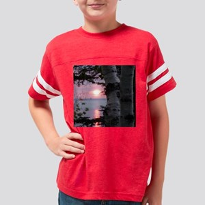 Lake Superior Sunset Youth Football Shirt