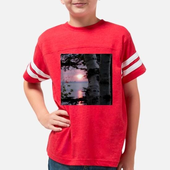 Lake Superior Sunset Youth Football Shirt