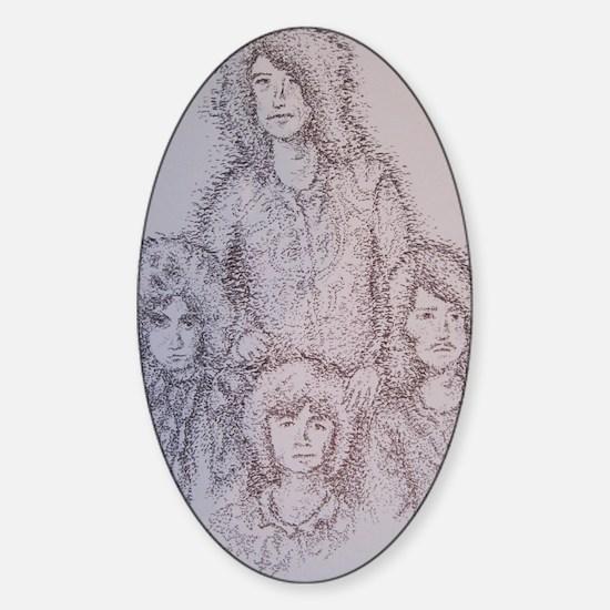Lez Zepplin Sticker (Oval)