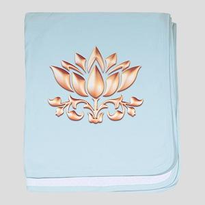 lotus gold baby blanket