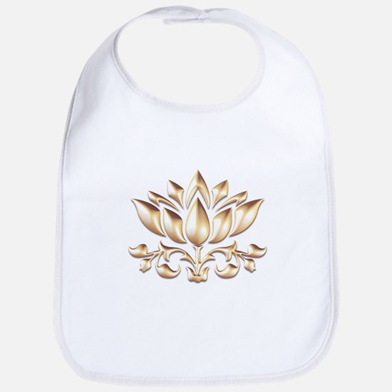 lotus gold Baby Bib