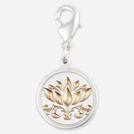 lotus gold Charms