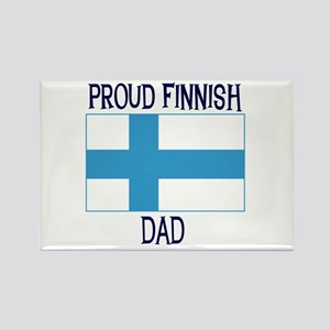 Proud Finnish Dad Rectangle Magnet