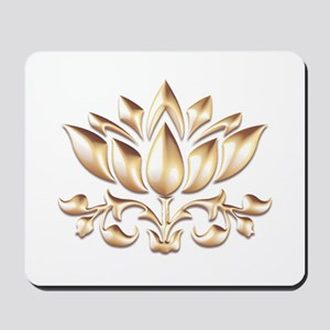 lotus gold Mousepad