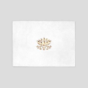 lotus gold 5'x7'Area Rug