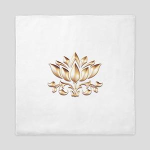 lotus gold Queen Duvet
