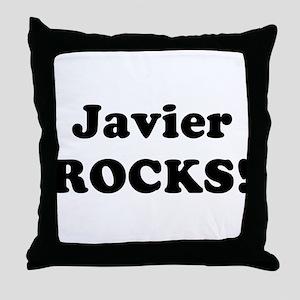 Javier Rocks! Throw Pillow