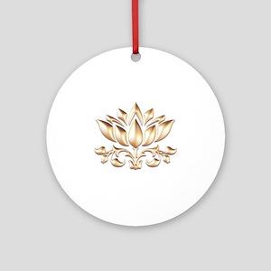 lotus gold Round Ornament