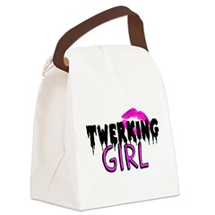 Twerking Girl Canvas Lunch Bag