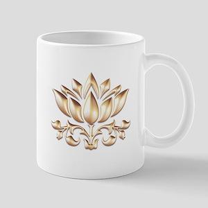 lotus gold Mugs