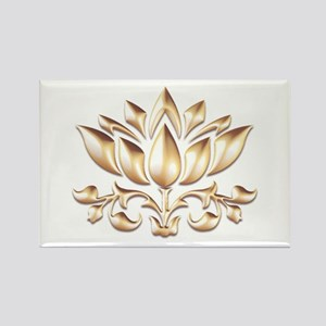 lotus gold Magnets