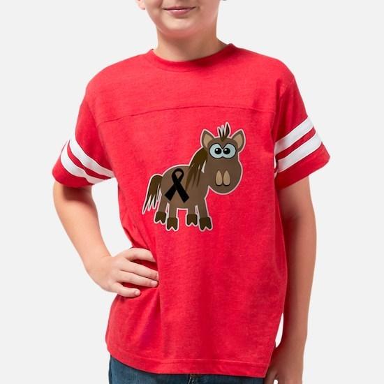 black ribbon horse Youth Football Shirt