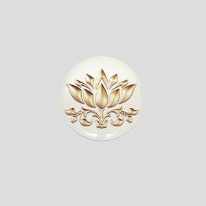 lotus gold Mini Button