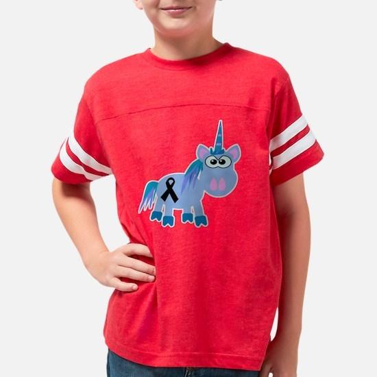 black ribbon unicorn Youth Football Shirt