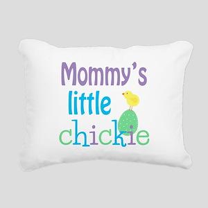 Mommy's Little Chick Rectangular Canvas Pillow