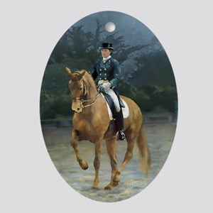 PB Piaffe Dressage Horse Ornament (Oval)