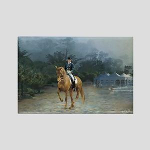 PB Piaffe Dressage Horse Rectangle Magnet