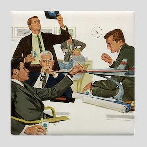 Vintage Business Executives Tile Coaster