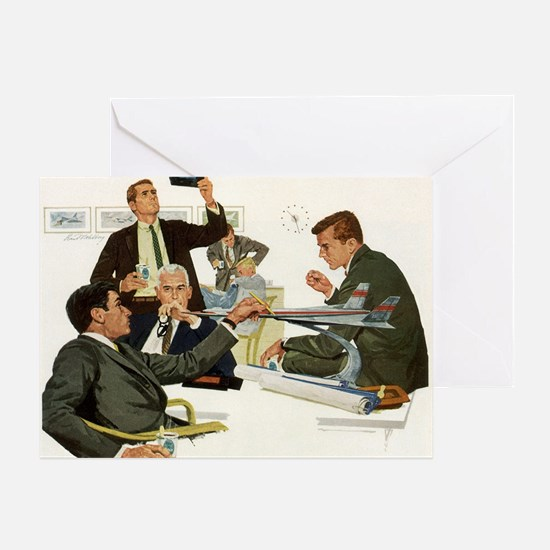 Vintage Business Executives Greeting Card