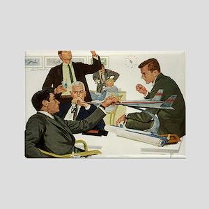 Vintage Business Executives Rectangle Magnet