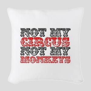 Circus Monkey Woven Throw Pillow