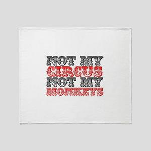 Circus Monkey Throw Blanket