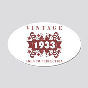 1933 Vintage (old-fashioned) 20x12 Oval Wall Decal