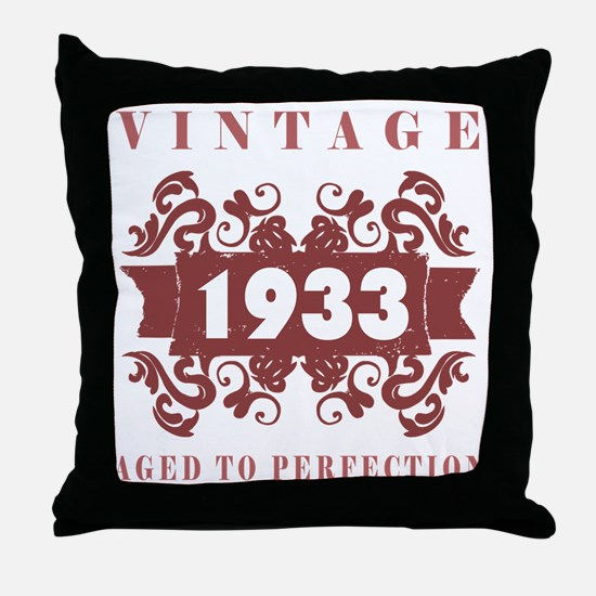 1933 Vintage (old-fashioned) Throw Pillow