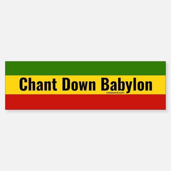 Rasta Gear Chant Down Babylon Bumper Bumper Bumper Sticker