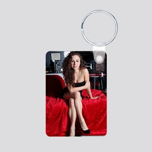 Sexy Woman Aluminum Photo Keychain
