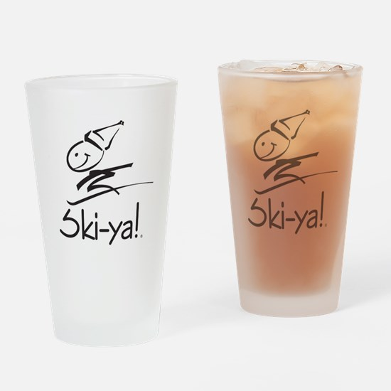 Ski-ya! Drinking Glass