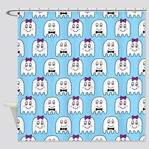 'Ghost Couple' Shower Curtain