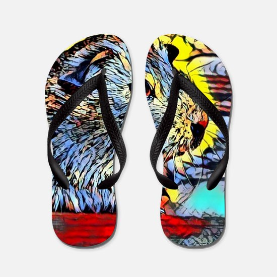 Color Kick -guinea pig Flip Flops