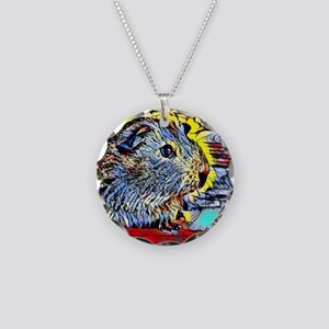 Color Kick -guinea pig Necklace Circle Charm