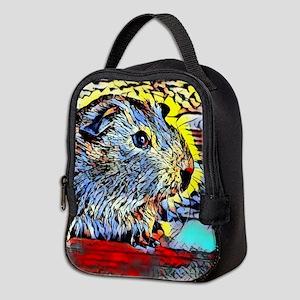Color Kick -guinea pig Neoprene Lunch Bag