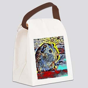 Color Kick -guinea pig Canvas Lunch Bag