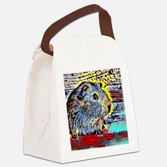 Color Kick -guinea pig Canvas Lunch Bag
