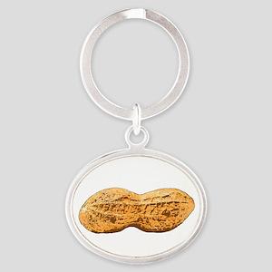 Peanut Oval Keychain