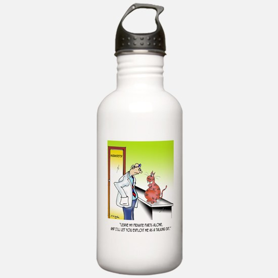 2_lines_template Water Bottle