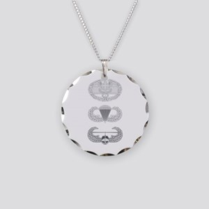 CFMB Airborne Air Assault Necklace Circle Charm